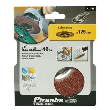 Piranha lamellenschuurschijf X32121 K40 125 mm