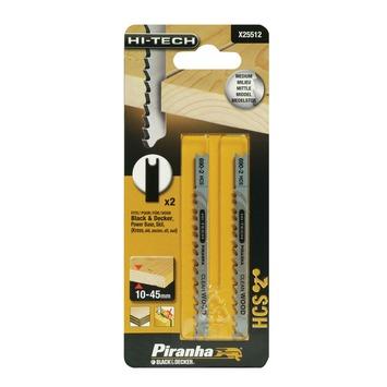 Piranha decoupeerzaagblad X25512 U-schacht (2 stuks) voor hout