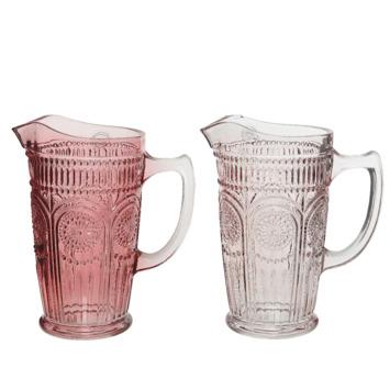 Karaf glas bloem - assorti