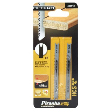 Piranha HI-TECH decoupeerzaagblad X25542 U-schacht (2 stuks) voor gelamineerd hout