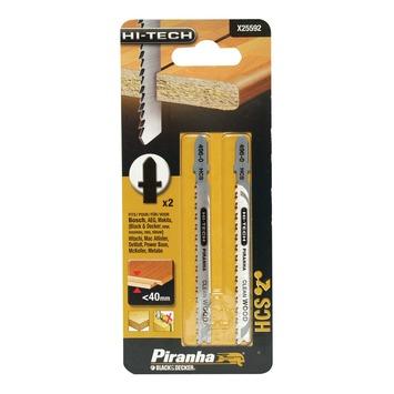Piranha HI-TECH decoupeerzaagblad X25592 HCS T-schacht (2 stuks) voor gelamineerd hout