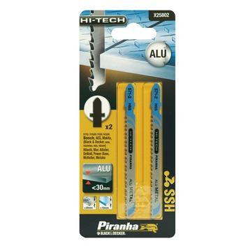 Piranha HI-TECH decoupeerzaagblad X25802 HSS T-schacht (2 stuks) voor aluminium en kunststof