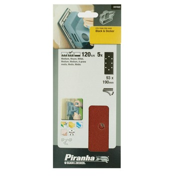 Piranha schuurpapier X31522 K120 187x93 mm (5 stuks)