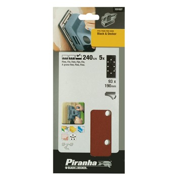 Piranha schuurpapier X31527 1/3 vel K240 187x93 mm (5 stuks)