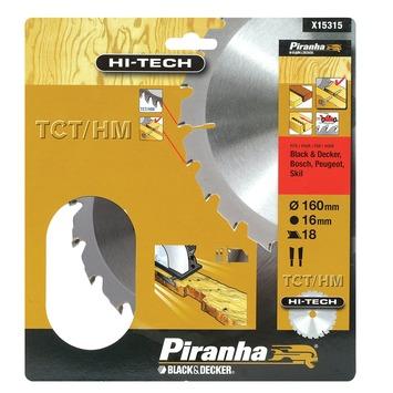 Piranha HI-TECH cirkelzaagblad X15315 TCT/HM 160x16 mm 18 tanden