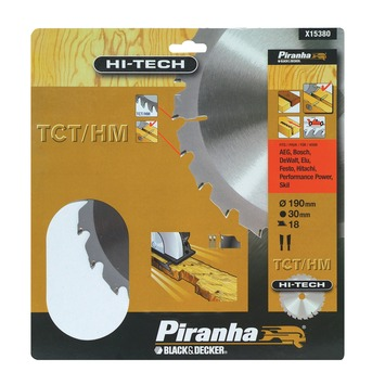 Piranha HI-TECH cirkelzaagblad X15380 TCT/HM 190x30 mm 18 tanden
