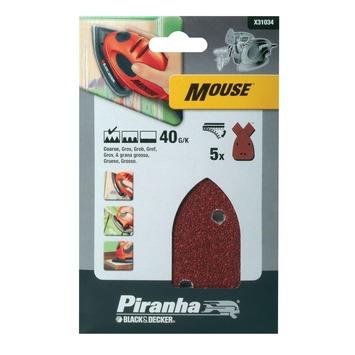 Piranha schuurpapier X31034 K40 (5 stuks) voor B&D Mouse
