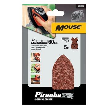 Piranha schuurpapier X31039 K60 (5 stuks) voor B&D Mouse