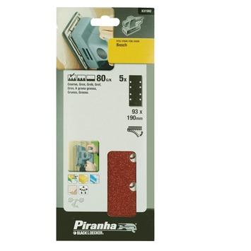 Piranha schuurpapier X31582 K80 187x93 mm (5 stuks)