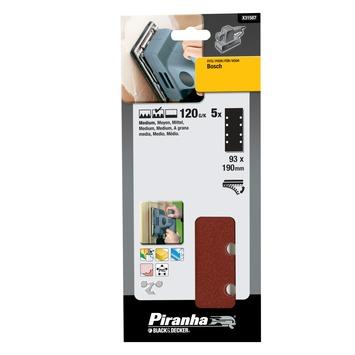 Piranha schuurpapier X31587 K120 187x93 mm (5 stuks)