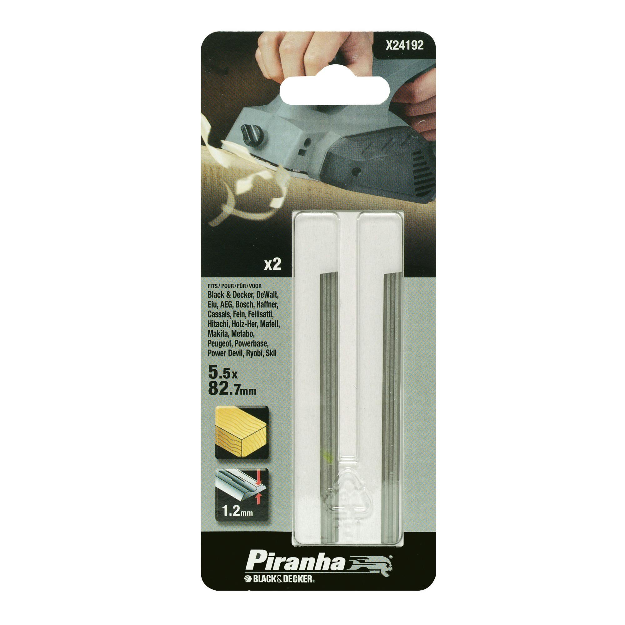 Piranha schaafbeitel X24192 HSS 5,5x82,7 mm (2 stuks) voor hout