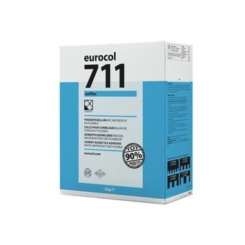 Eurocol 711 uniflex poedertegellijm wit 5kg