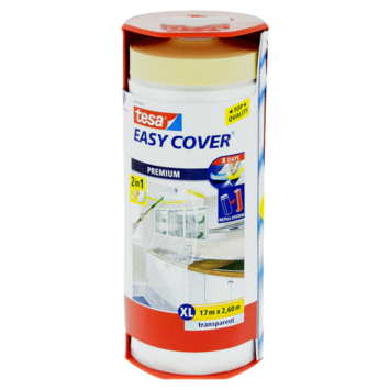 Tesa Easy Cover XL 2-in-1 afdekfolie in dispenser 17mx2,6m