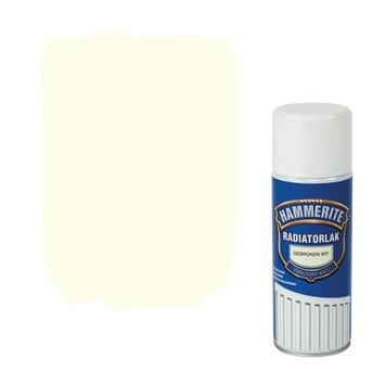 Hammerite radiatorlak spuitlak zijdeglans gebroken wit 400 ml