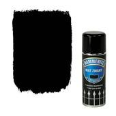 Hammerite Direct over Roest metaallak spuitlak mat zwart 400 ml