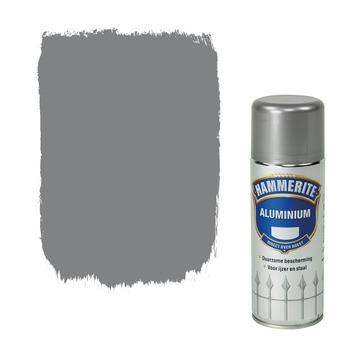Hammerite Direct over Roest metaallak hoogglans aluminium 400 ml