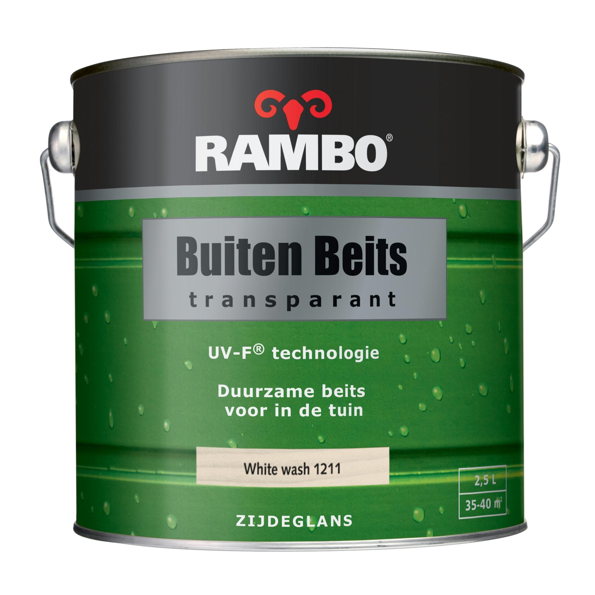 Rambo buitenbeits white wash transparant 2,5 l