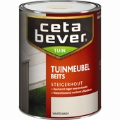 CetaBever steigerhout tuinmeubelbeits white wash 750 ml