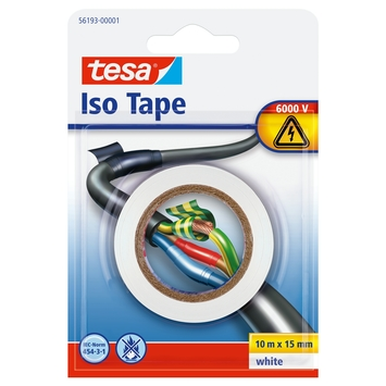 Tesa isolatietape 10mx15mm wit