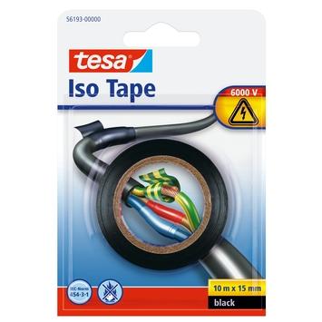 Tesa isolatietape 10mx15mm zwart