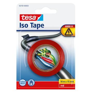 Tesa isolatietape 10mx15mm rood