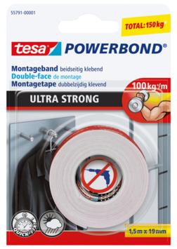 Tesa Powerbond montagetape ultra sterk 1,5mx19mm