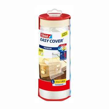 Tesa Easy Cover L 2-in-1 afdekfolie in dispenser 33mx1,4m
