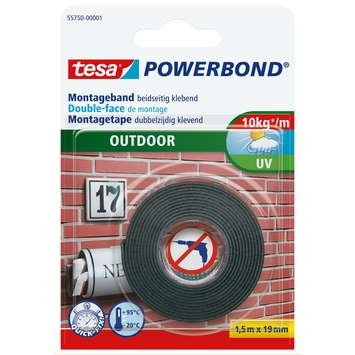 Tesa Powerbond montagetape buiten 1,5mx19mm