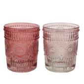 Drinkglas bloem - assorti