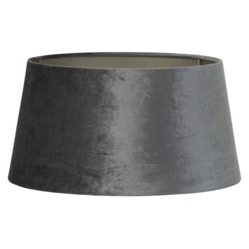 Lampenkap Velours 40x35x20 cm grijs