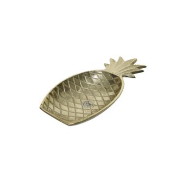 Bord ananas aluminium  30 x 15 cm