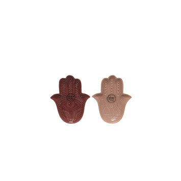 Bord hand porselein - assorti  13 x 10,5 cm