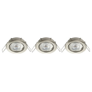 KARWEI LED inbouwspots richtbaar staal 3 stuks