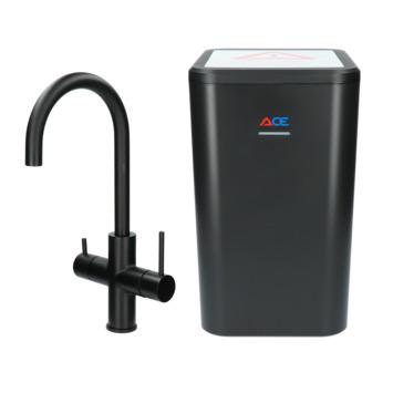 Handson Ace 3-in-1 kokendwaterkraan Zwart incl. 4 liter boiler