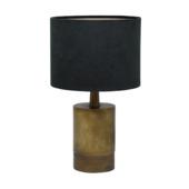 Tafellamp Jensen Ø20x34 cm Antiek brons + zwart velours