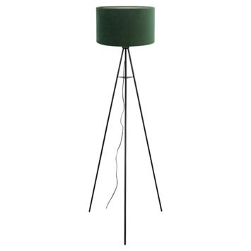Vloerlamp Mason Ø58x150 cm mat zwart + groen velours