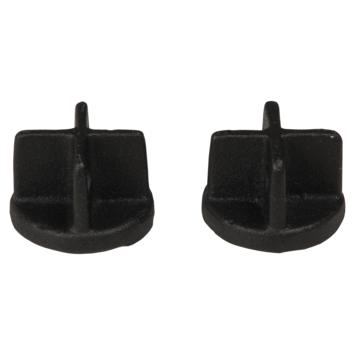 Eindknop gordijnroede Industrieel mat zwart