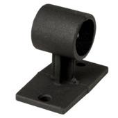 Wand-/plafondsteun gordijnroede Industrieel mat zwart