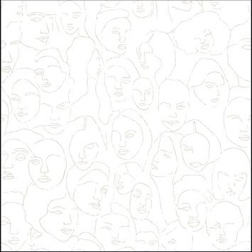 vtwonen fotobehang faces (dessin 107859)