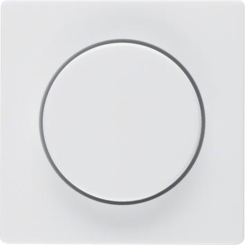 Berker Q.1 Centraalplaat met Dimmerknop Wit