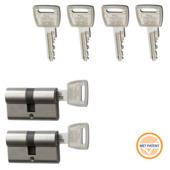 NEMEF veiligheidscilinder 30/30 mm SKG 3-sterren gelijksluitend (2 stuks)