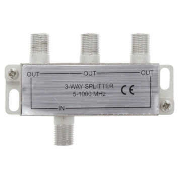 Q-Link Coax F-splitter 3-weg/ 4F-connector
