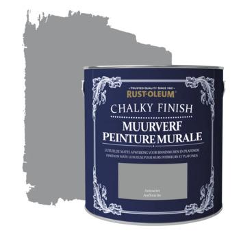 Rust-oleum chalky finish muurverf krijtmat antraciet 2,5 liter