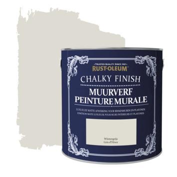 Rust-oleum chalky finish muurverf krijtmat wintergrijs 2,5 liter