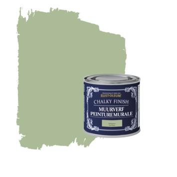 Rust-oleum chalky finish muurverf kakigroen kleurtester 125 ml
