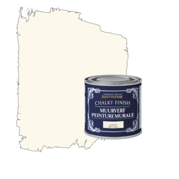 Rust-oleum chalky finish muurverf antiek wit kleurtester 125 ml