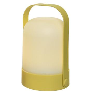 LED tafellamp bol geel 21 cm hoog