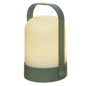 LED tafellamp bol groen 21 cm hoog