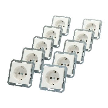 Jung AS500 voordeelpack inbouw enkel geaard Stopcontact 10 stuks