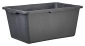 Speciekuip recht 65 liter zwart